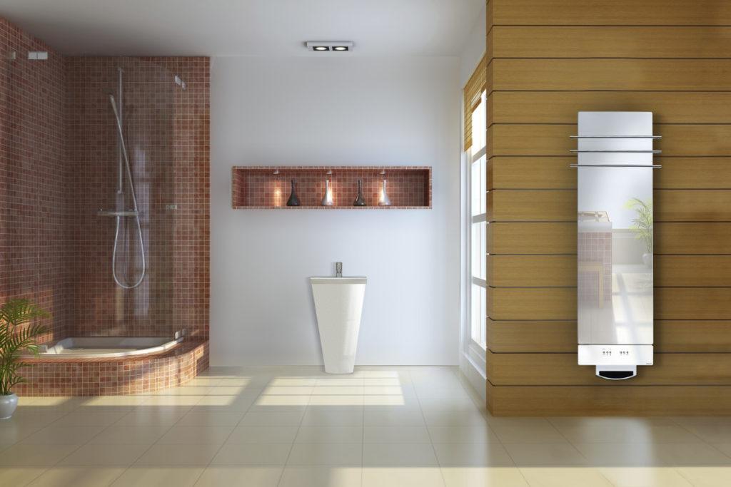 designové skleněné radiátory Solaris do koupelny