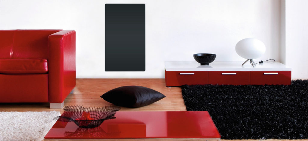 designové sálavé skleněné radiátory Solaris