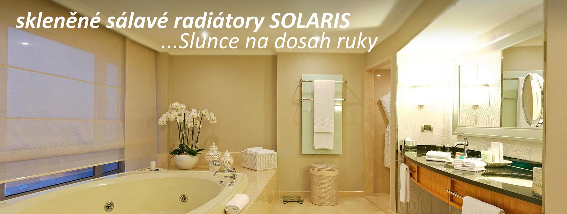 Skleněné sálavé infra radiátory SOLARIS